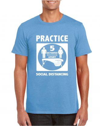 5 octaves apart – shirt mockup – carolina blue